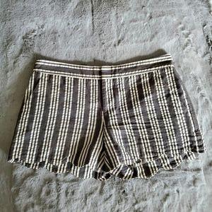 Club Monaco Cotton Stripe Shorts Size 0